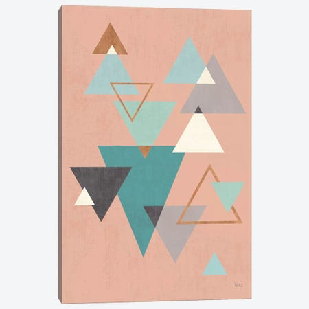 Abstract Geo II Pink Canvas Print #WAC8297} by Veronique Charron Canvas Art Print