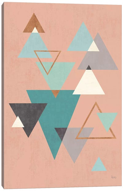 Abstract Geo II Pink Canvas Art Print