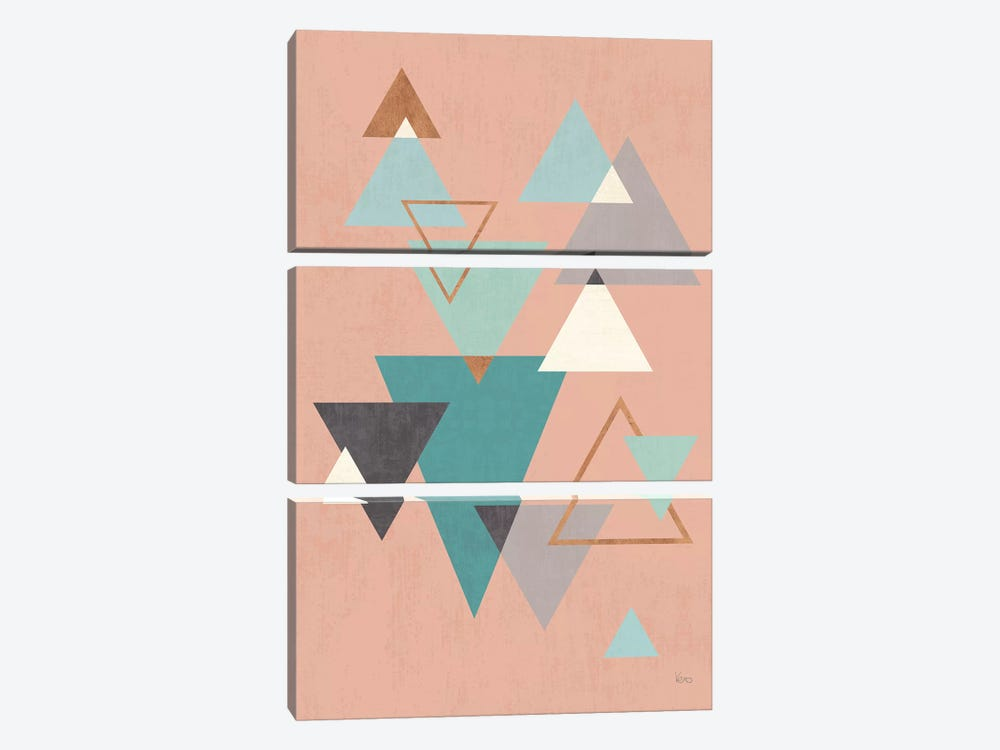 Abstract Geo II Pink by Veronique Charron 3-piece Canvas Artwork