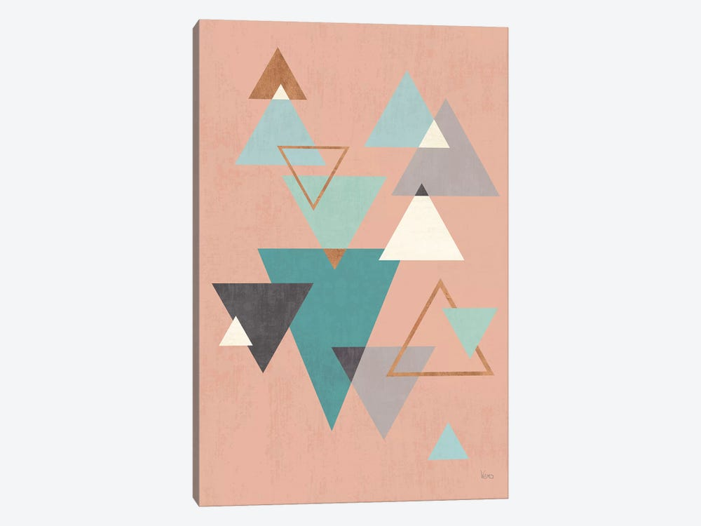 Abstract Geo II Pink by Veronique Charron 1-piece Canvas Wall Art