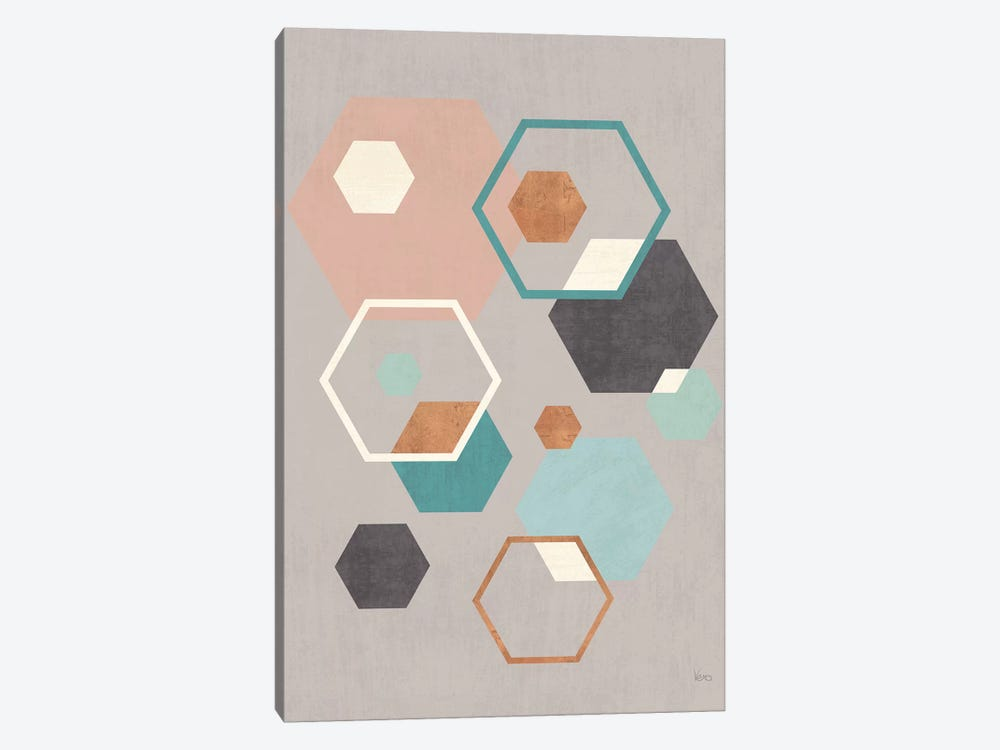 Abstract Geo III Gray 1-piece Canvas Artwork