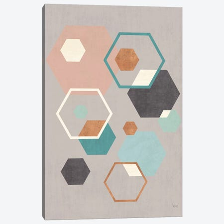 Abstract Geo III Gray Canvas Print #WAC8299} by Veronique Charron Canvas Art