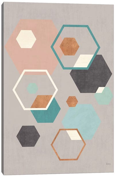 Abstract Geo III Gray Canvas Art Print