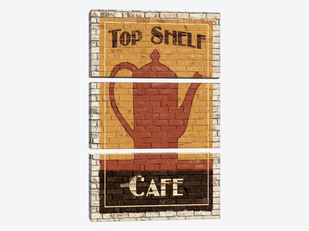 Top Shelf Café by Avery Tillmon 3-piece Canvas Wall Art