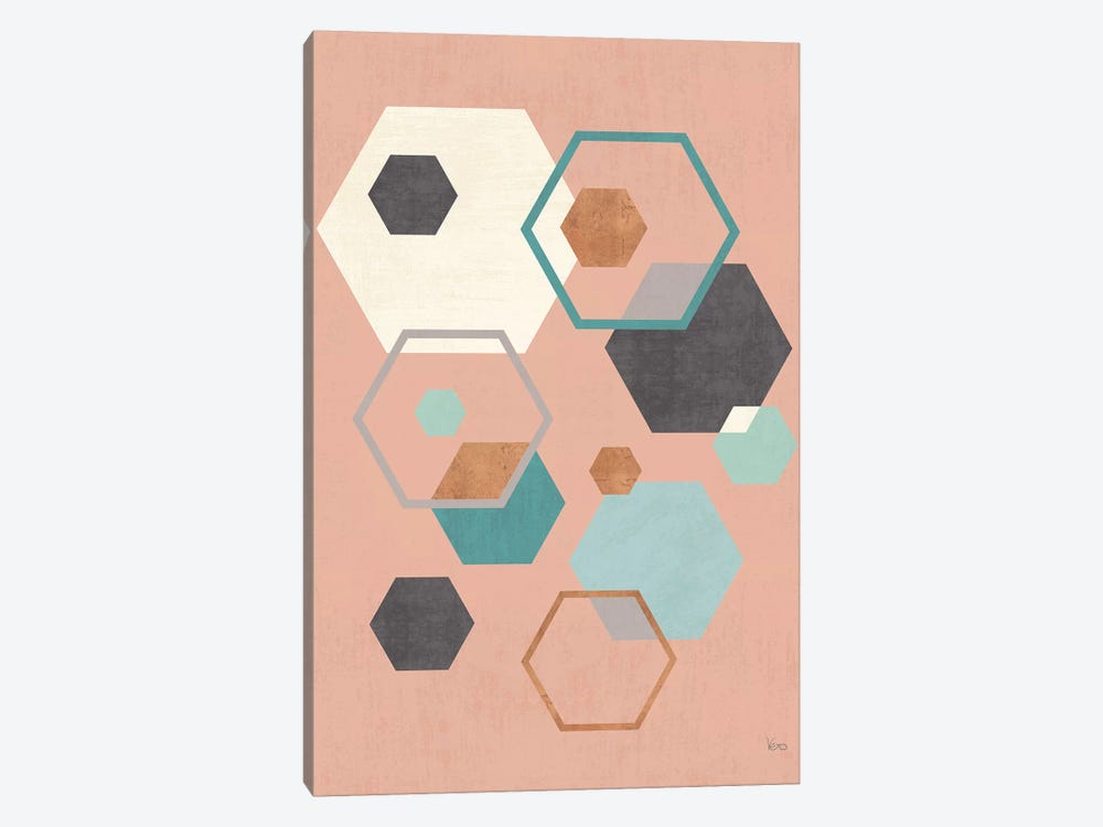Abstract Geo III Pink by Veronique Charron 1-piece Art Print