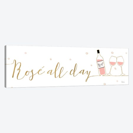 Underlined Bubbly I Canvas Print #WAC8301} by Veronique Charron Canvas Wall Art
