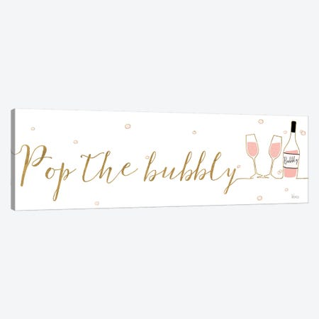 Underlined Bubbly III Canvas Print #WAC8303} by Veronique Charron Canvas Artwork