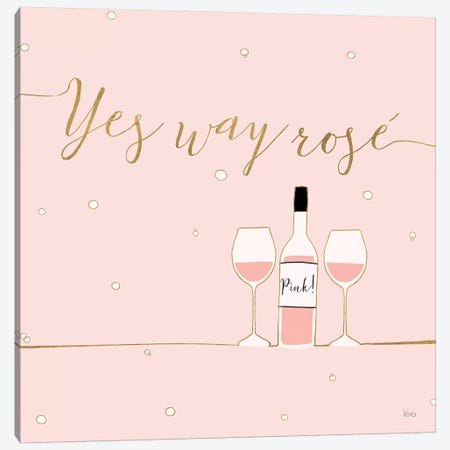 Underlined Bubbly VI Pink Canvas Print #WAC8306} by Veronique Charron Canvas Print
