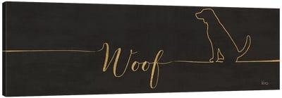 Underlined Dogs IV Black Canvas Art Print