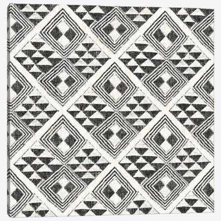 African Wild Pattern, B&W II Canvas Print #WAC8331} by Wild Apple Portfolio Art Print
