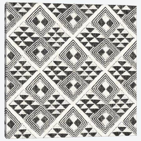 African Wild Pattern, B&W II Canvas Print #WAC8331} by Wild Apple Portfolio Art Print
