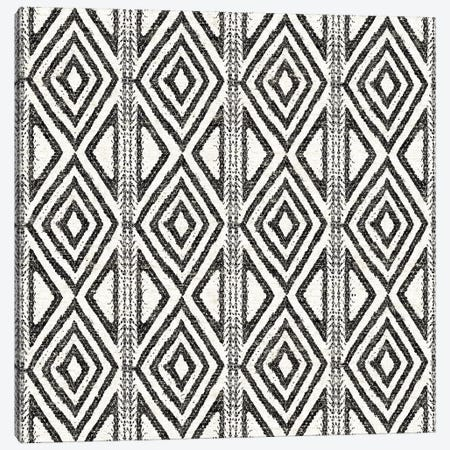 African Wild Pattern, B&W III Canvas Print #WAC8332} by Wild Apple Portfolio Art Print