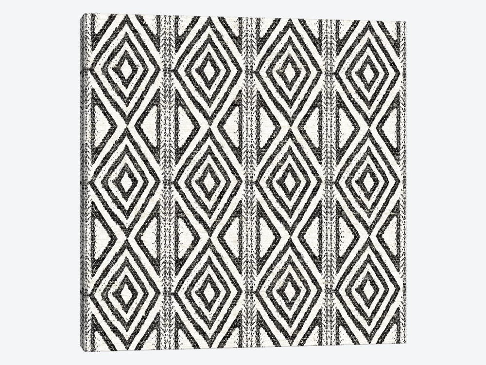 African Wild Pattern, B&W III 1-piece Canvas Wall Art