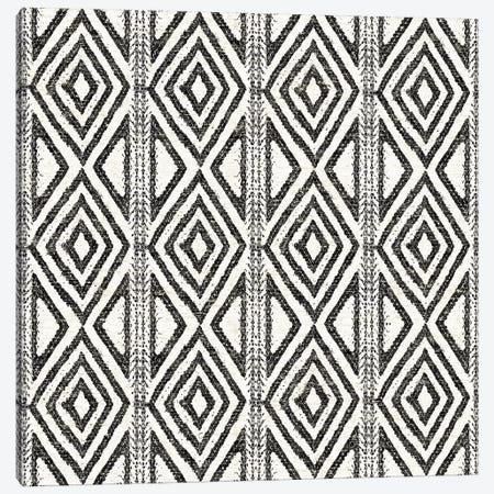 African Wild Pattern, B&W III Canvas Print #WAC8332} by Wild Apple Portfolio Art Print