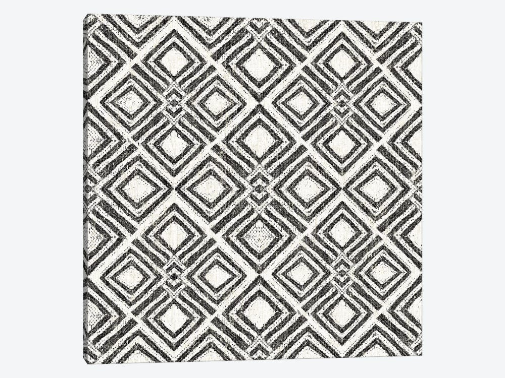 African Wild Pattern, B&W IV by Wild Apple Portfolio 1-piece Canvas Print