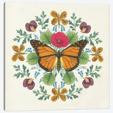 Butterfly Mandala I Canvas Print #WAC8334} by Wild Apple Portfolio Canvas Art