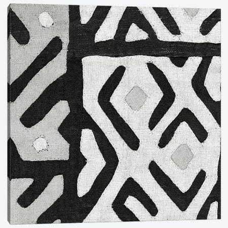 Kuba Cloth I Square I, B&W Canvas Print #WAC8342} by Wild Apple Portfolio Canvas Art