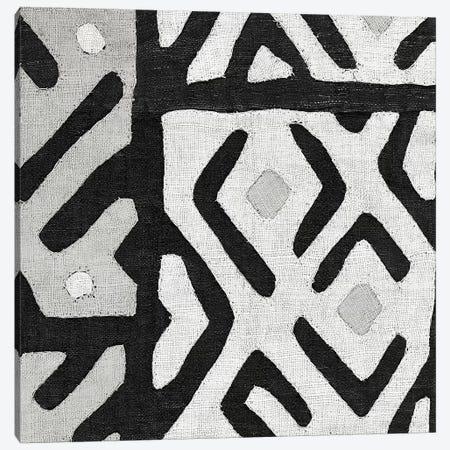 Kuba Cloth I Square I, B&W Canvas Print #WAC8342} by Wild Apple Portfolio Canvas Art