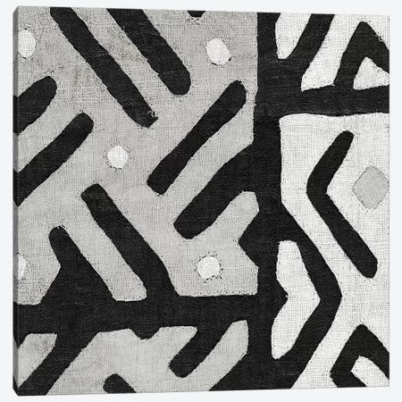 Kuba Cloth I Square II, B&W Canvas Print #WAC8343} by Wild Apple Portfolio Canvas Wall Art