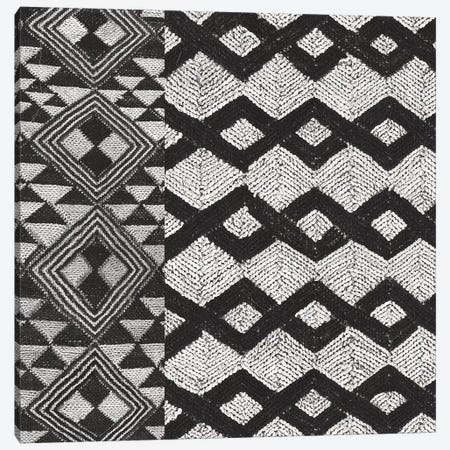 Kuba Cloth Mat I, B&W Canvas Print #WAC8344} by Wild Apple Portfolio Canvas Art Print