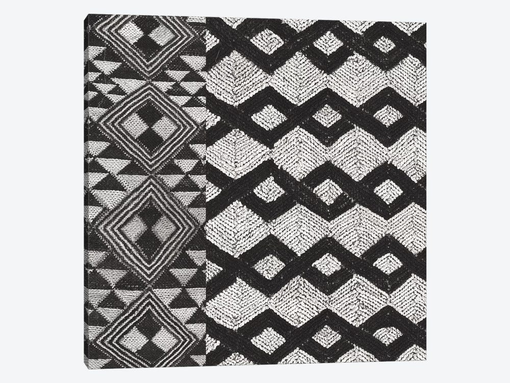 Kuba Cloth Mat I, B&W by Wild Apple Portfolio 1-piece Canvas Art Print