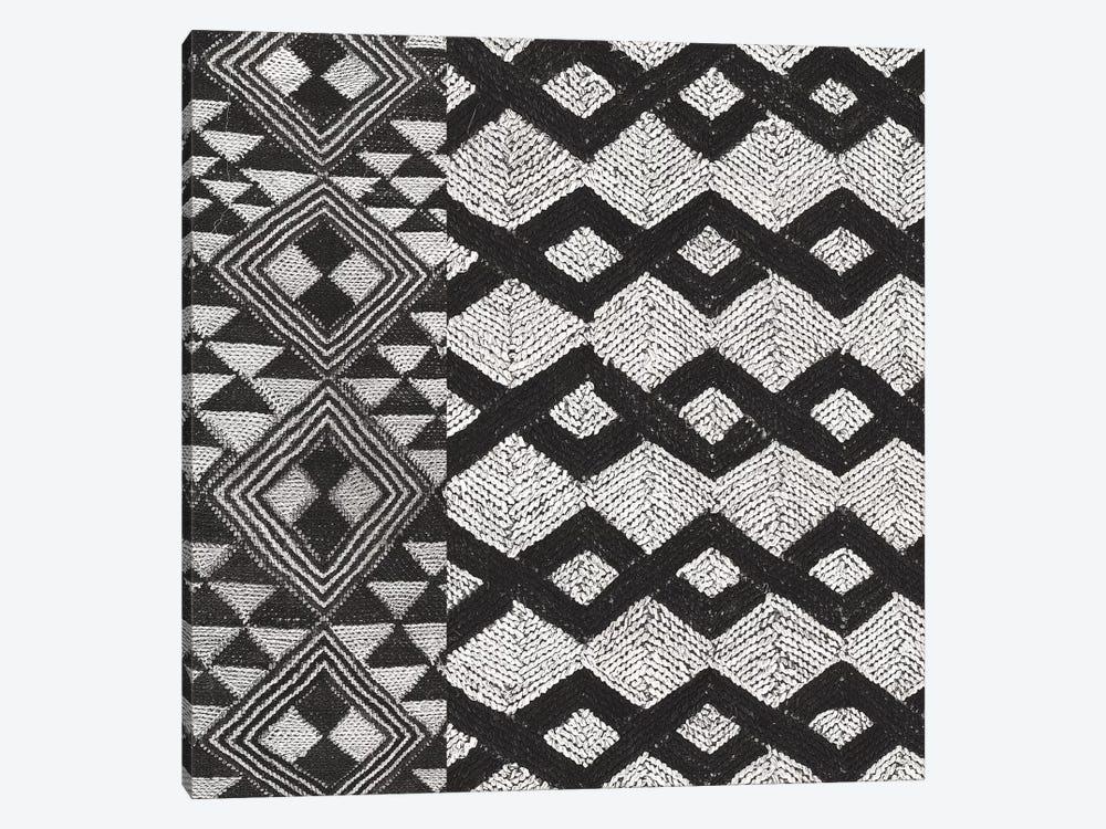 Kuba Cloth Mat I, B&W by Wild Apple Portfolio 1-piece Canvas Art Print