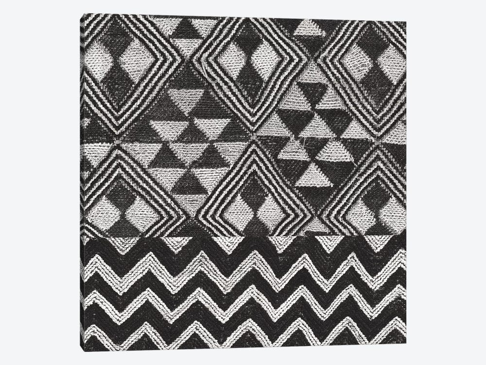 Kuba Cloth Mat II, B&W by Wild Apple Portfolio 1-piece Canvas Wall Art