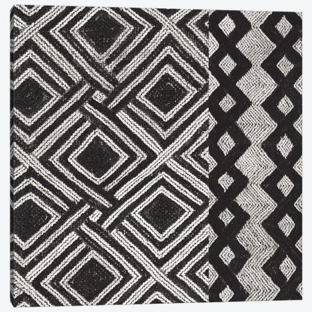 Kuba Cloth Mat III, B&W Canvas Print #WAC8346} by Wild Apple Portfolio Canvas Art Print