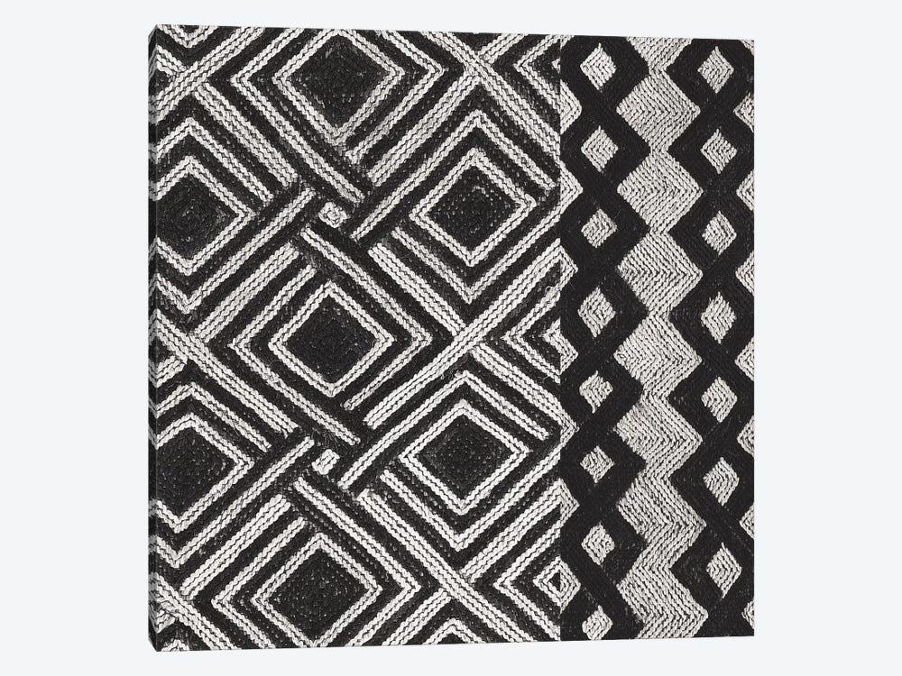 Kuba Cloth Mat III, B&W by Wild Apple Portfolio 1-piece Canvas Print
