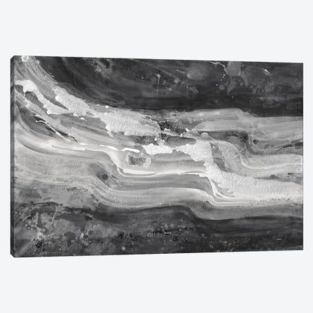 Currents, Gray & Black & White Canvas Print #WAC8347} by Albena Hristova Canvas Art Print