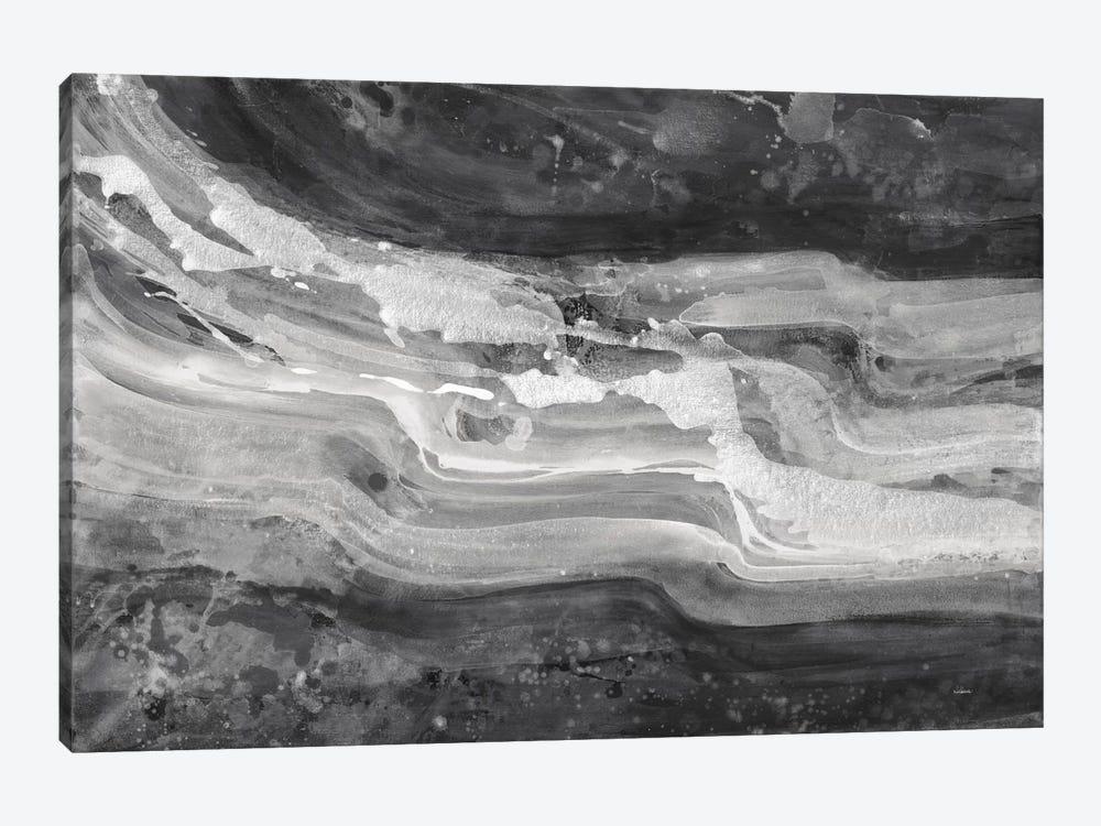 Currents, Gray & Black & White by Albena Hristova 1-piece Canvas Wall Art