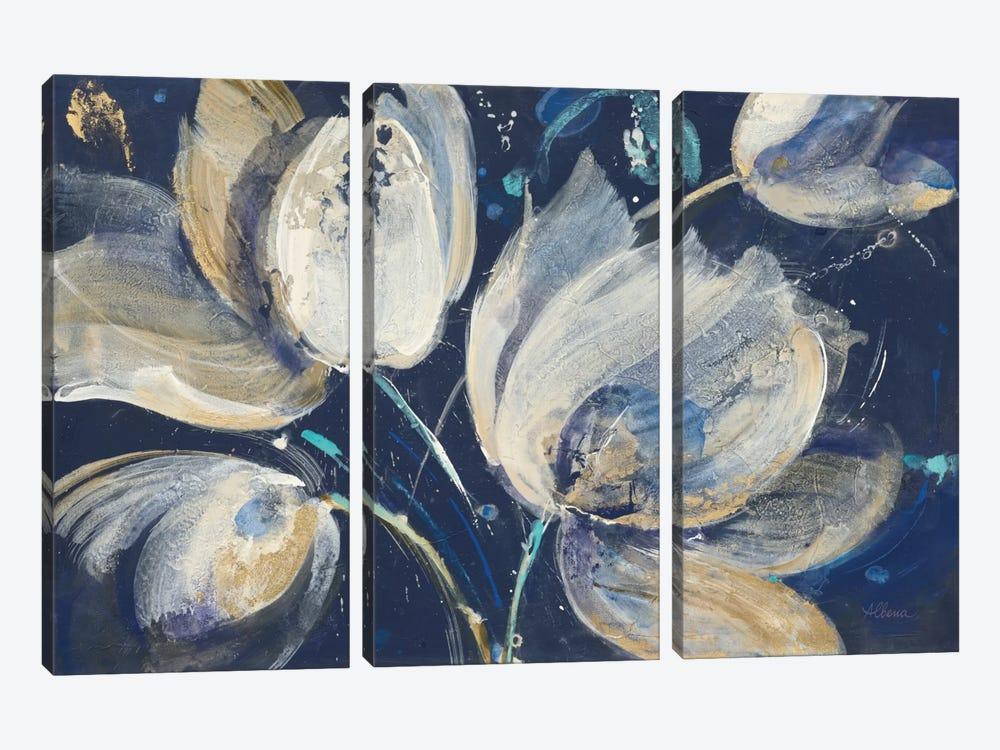 Midnight Garden by Albena Hristova 3-piece Art Print