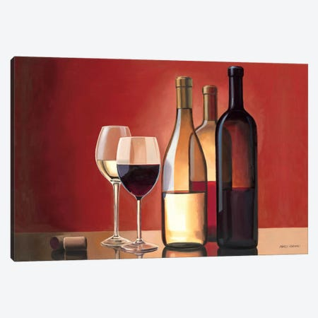 Wine Trio  Canvas Print #WAC834} by Marco Fabiano Canvas Wall Art