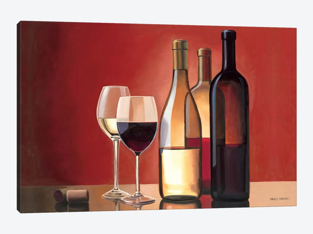 Wine Trio by Marco Fabiano 1-piece Canvas Wall Art