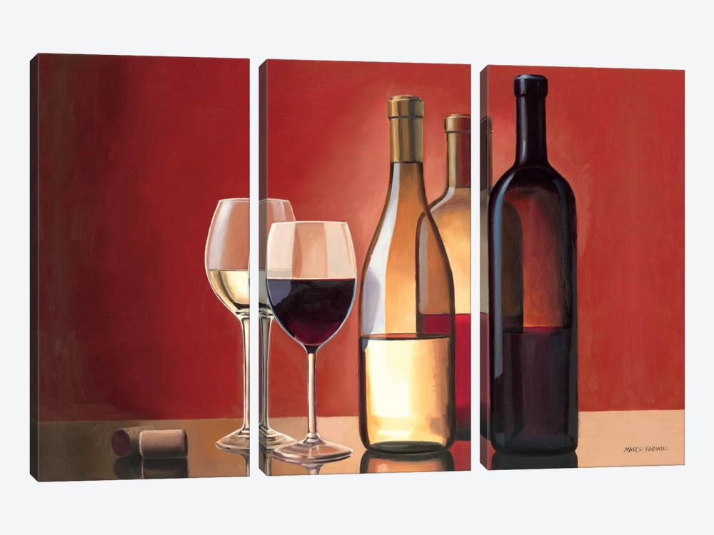 Wine Trio by Marco Fabiano 3-piece Canvas Wall Art