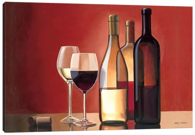 Wine Trio  Canvas Art Print