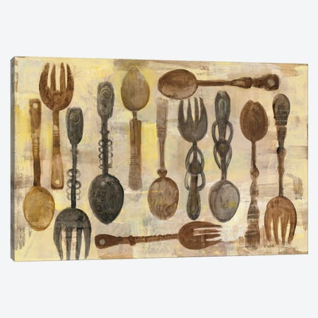 Spoons And Forks Canvas Print #WAC8351} by Albena Hristova Art Print