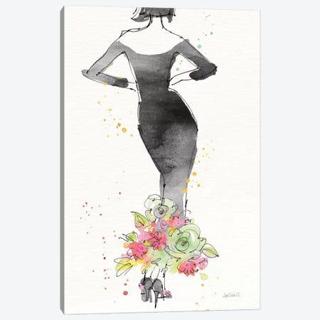 Floral Fashion I, rectangular Canvas Print #WAC8358} by Anne Tavoletti Canvas Art Print