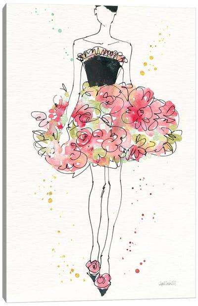 Floral Fashion II, rectangular Canvas Art Print