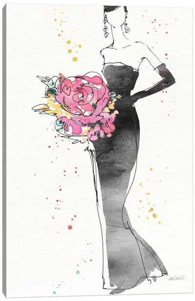 Floral Fashion III, rectangular Canvas Art Print
