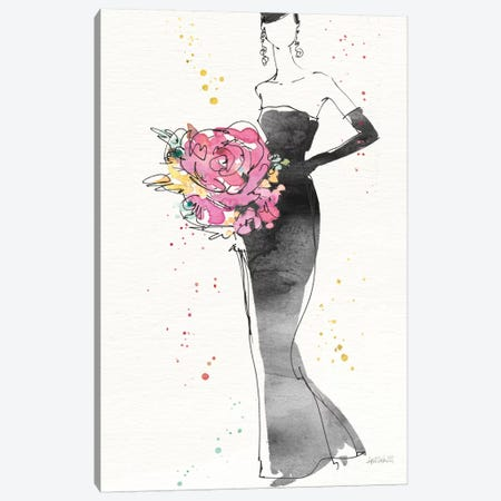 Floral Fashion III, rectangular Canvas Print #WAC8360} by Anne Tavoletti Canvas Art