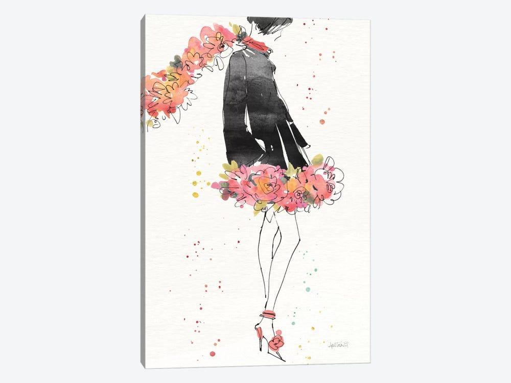 Floral Fashion IV, rectangular by Anne Tavoletti 1-piece Canvas Wall Art