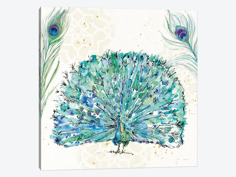 Peacock Garden IX by Anne Tavoletti 1-piece Art Print