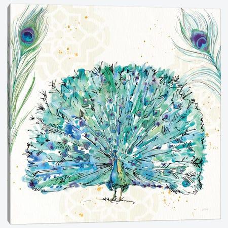 Peacock Garden IX 3-Piece Canvas #WAC8368} by Anne Tavoletti Canvas Artwork