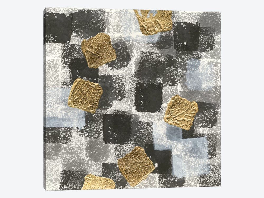 Gold Squares I by Chris Paschke 1-piece Canvas Print