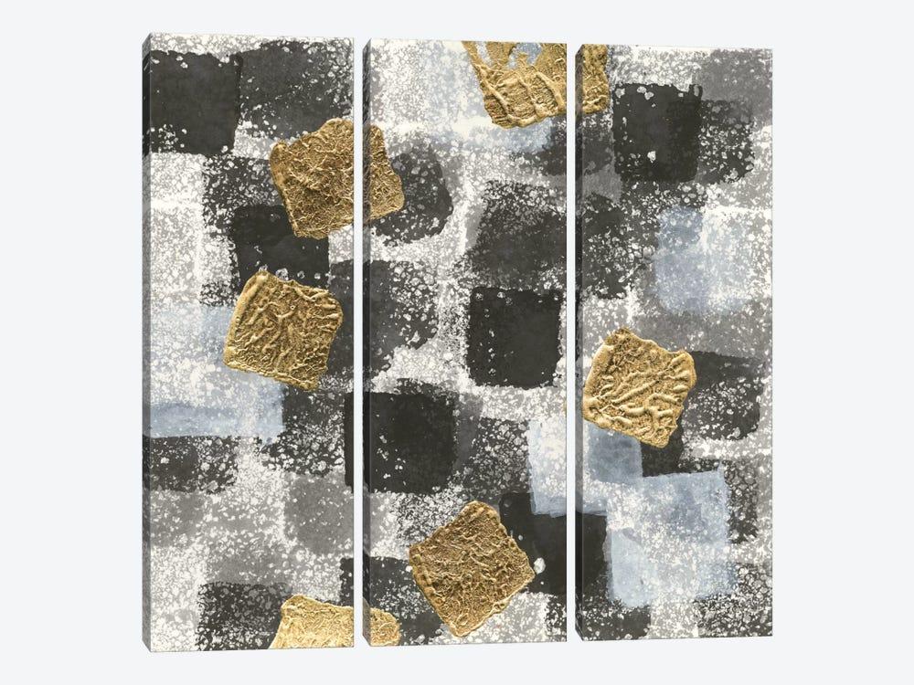 Gold Squares I by Chris Paschke 3-piece Canvas Print