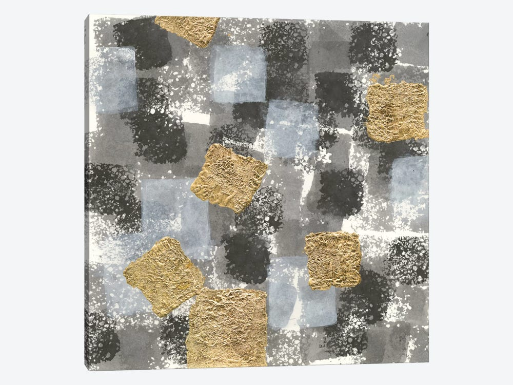 Gold Squares II by Chris Paschke 1-piece Canvas Wall Art