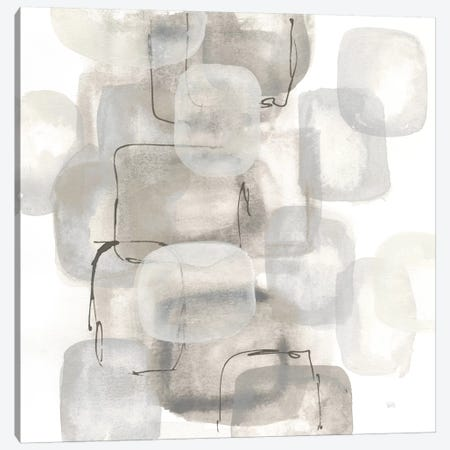 Neutral Stacking I, White Canvas Print #WAC8379} by Chris Paschke Art Print