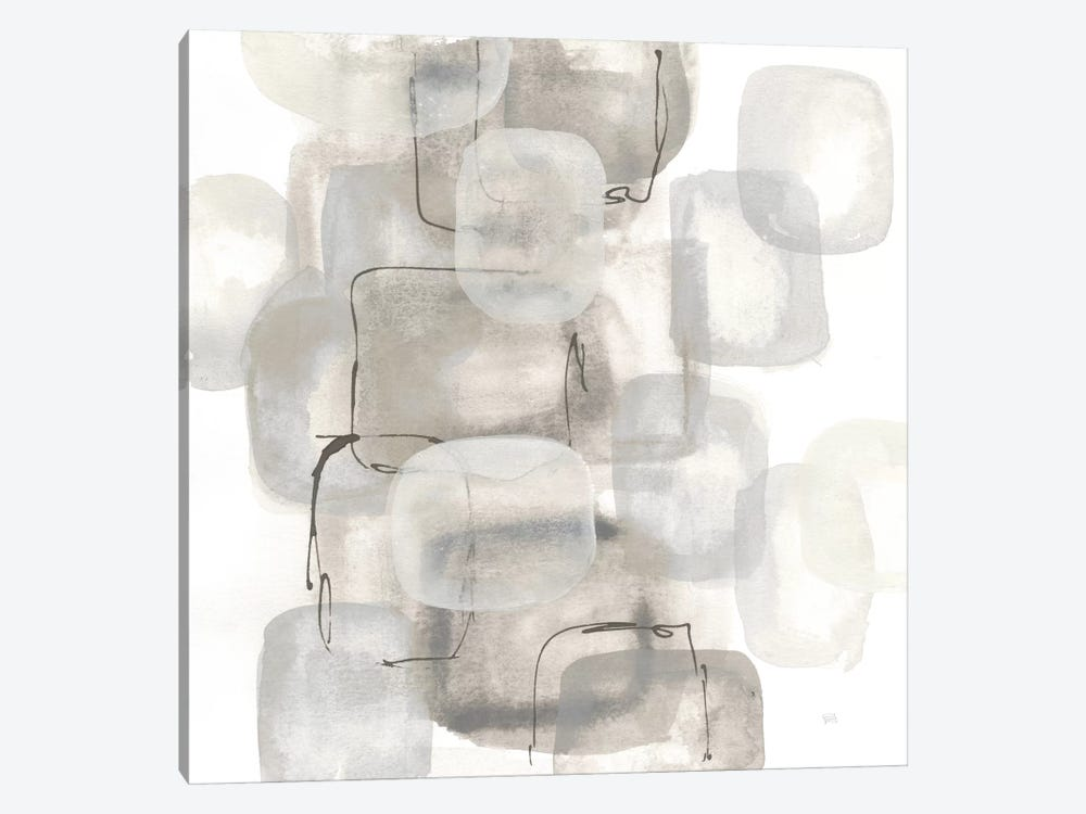 Neutral Stacking I, White by Chris Paschke 1-piece Canvas Art Print