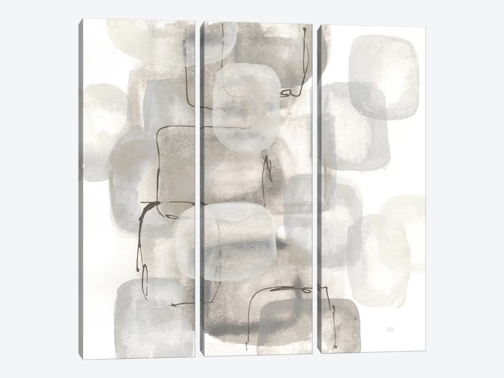 Neutral Stacking I, White by Chris Paschke 3-piece Art Print